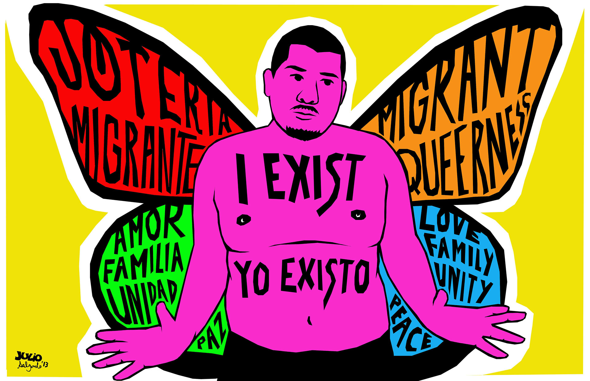 I am a butterfly, illustration by Julio Salgado