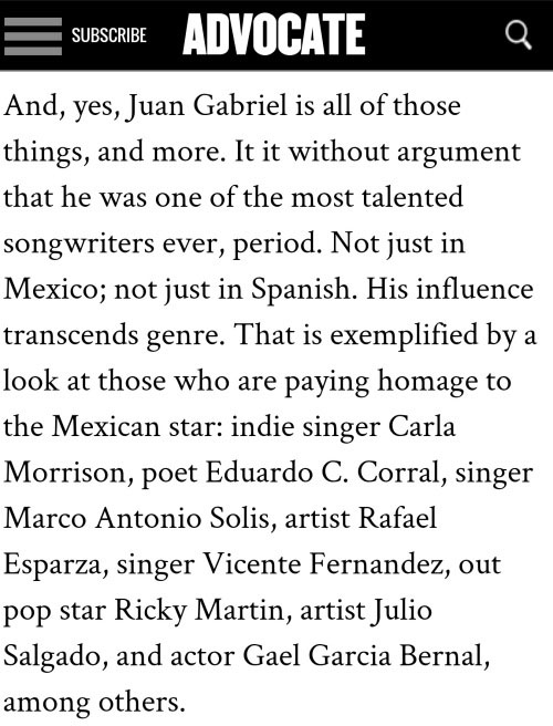 The Advocate: Juan Gabriel, Queer Mexican Icon