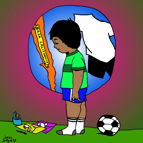 No Thank You, Soccer, illustration by Julio Salgado