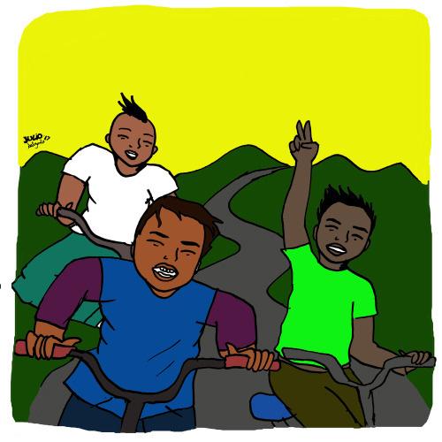 Riding Around, illustration by Julio Salgado